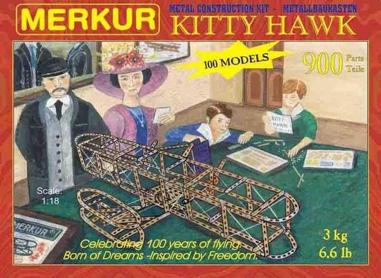 Merkur Kitty Hawk, 900 dílů, 100 modelů
